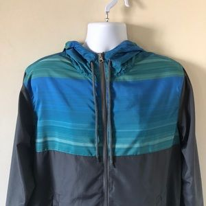 Colorblock Gray and Blue Windbreaker
